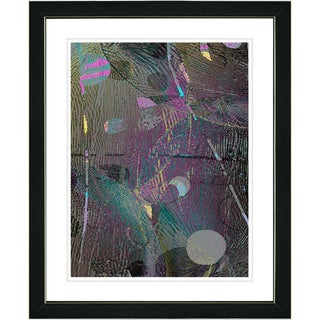 Studio Works Modern 'Plyos Metal - Purple' Framed Art Print