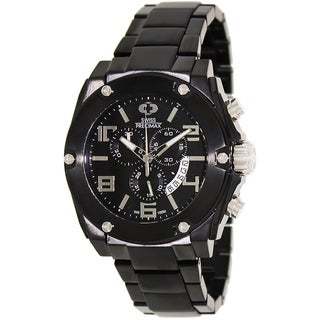 Swiss Precimax Men's Admiral Pro Black Stainless-Steel Band Chronograph Watch