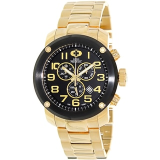 Swiss Precimax Men's Marauder Pro Gold Stainless-Steel Band Chronograph Watch