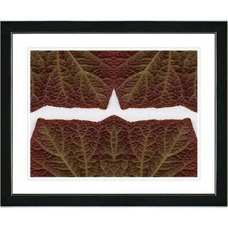 Studio Works Modern 'Abstract Leaf Series - Meeting' Framed Art Print