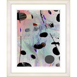 Zhee Singer 'Plyos Play - Steel Blue' White Framed Art Print