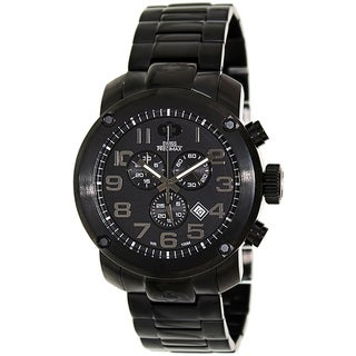 Swiss Precimax Men's Marauder Pro Black Stainless-Steel Band Swiss Chronograph Watch