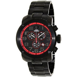 Swiss Precimax Marauder Pro Men's Black Stainless-Steel-Band Sapphimax-Crystal Swiss Chronograph Watch