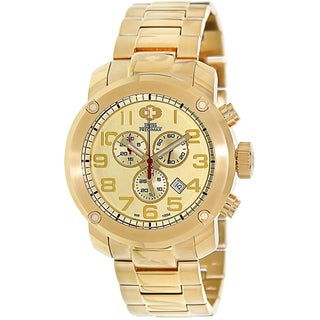 Swiss Precimax Men's Marauder Pro Gold Stainless-Steel Band Swiss Chronograph Watch