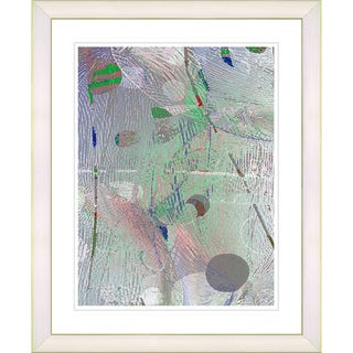 Studio Works Modern 'Plyos Pastel - Smoke Green' Framed Art Print