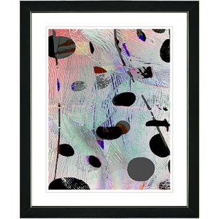 Zhee Singer 'Plyos Play - Steel Blue' Black Framed Art Print