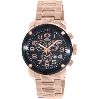 Swiss Precimax Men's Marauder Pro Rose-Gold Stainless-Steel Band Swiss Chronograph Watch