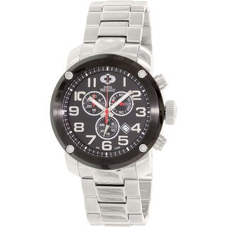 Swiss Precimax Men's Marauder Pro Silver Stainless-Steel Band Swiss Chronograph Watch with Case