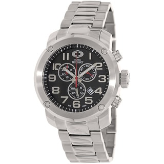 Swiss Precimax Men's Water-Resistant Marauder Pro Silver Stainless-Steel Band Swiss Chronograph Watch