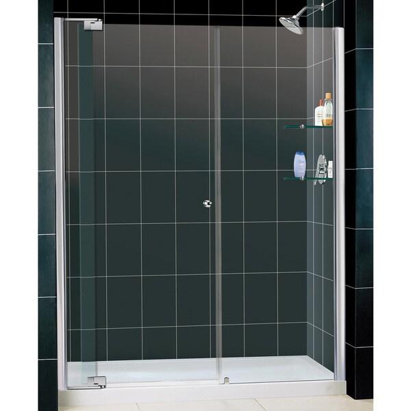 DreamLine Allure Frameless Pivot Shower Door 34x60-inch Shower Base
