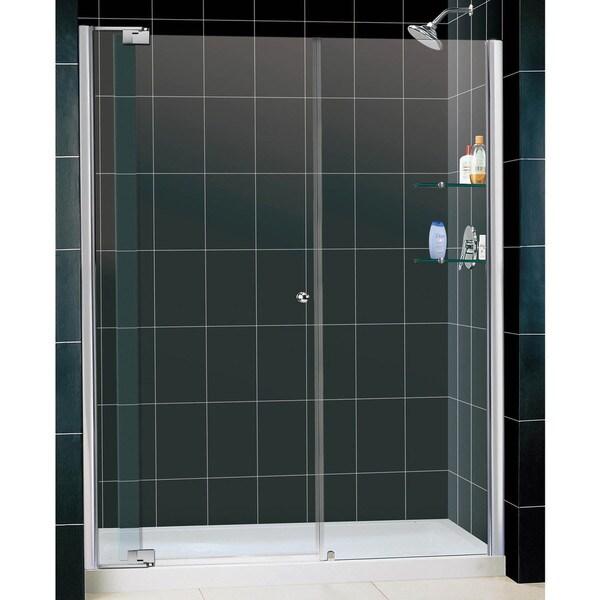 DreamLine Allure Frameless Pivot Shower Door and 32x60-inch Base