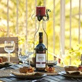 Wine Bottle Wrapper Candle Holder