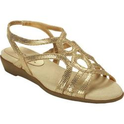 Women's Aerosoles Latte Gold Fabric