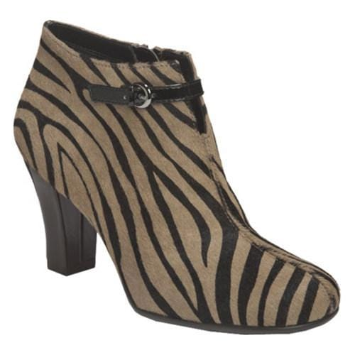 Women's Aerosoles Patrole Car Zebra Black/Mink Leather