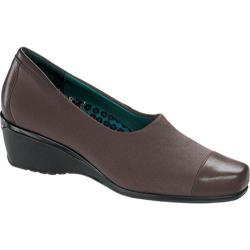 Women's Aetrex Andrea Pump Brown Stretch