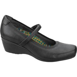 Women's Aetrex Gloria Mary Jane Black Leather