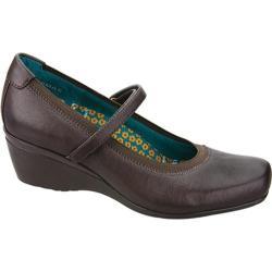Women's Aetrex Gloria Mary Jane Chestnut Leather