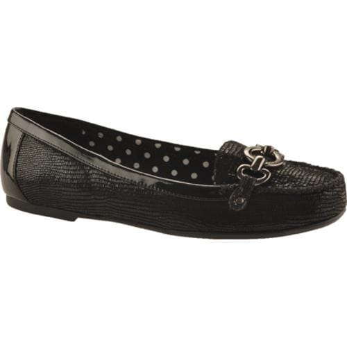 Women's Anne Klein Shirley Black Reptile Synthetic