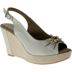 Women's Azura Boston Beige Leather