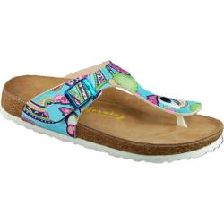 Women's California Footwear Co. San Diego Blue Paisley Leather