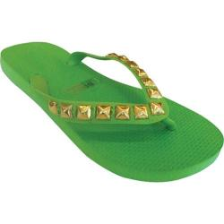 Women's Dini's Los Angeles Pyramid Studs Spring Green