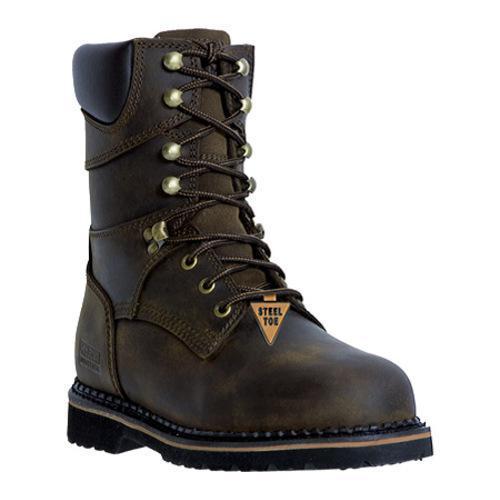 Men's McRae Industrial 8in Safety Toe Lacer MR88344 Dark Brown
