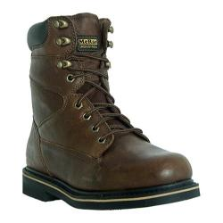 Men's McRae Industrial 8in Lacer MR88122 Peanut Brown Tumbled Leather