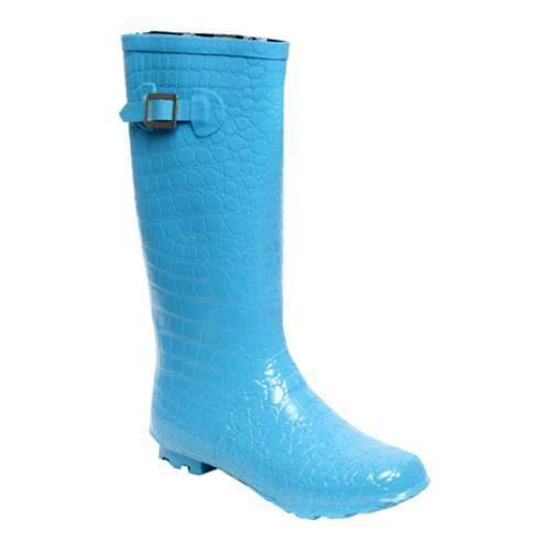 Women's RainBOPS Croc Style Rain Boot Aqua Breeze
