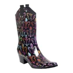Women's RainBOPS Cowgirl Style Rain Boot Vieux Carre