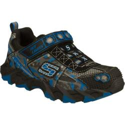 Boys' Skechers Hot Lights Ibex Humvee Black/Blue