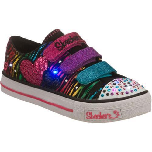 Girls' Skechers Twinkle Toes Shuffles Triple Time Black/Multi