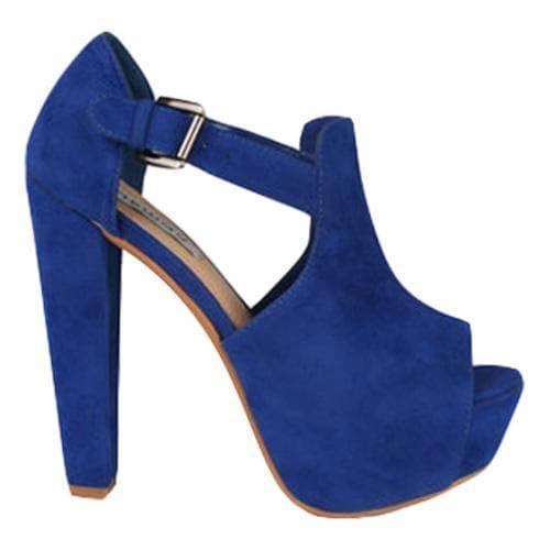 Women's Wild Diva Daisy-02 Blue Faux Suede