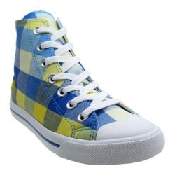 Women's Burnetie High Top Plaid White/Captains Blue