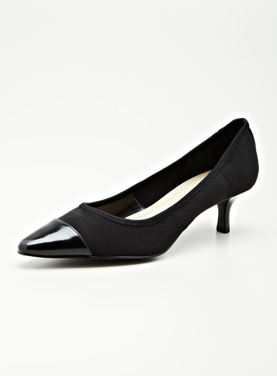 Ellen Tracy Peggy Mid Heeled Pump In Black