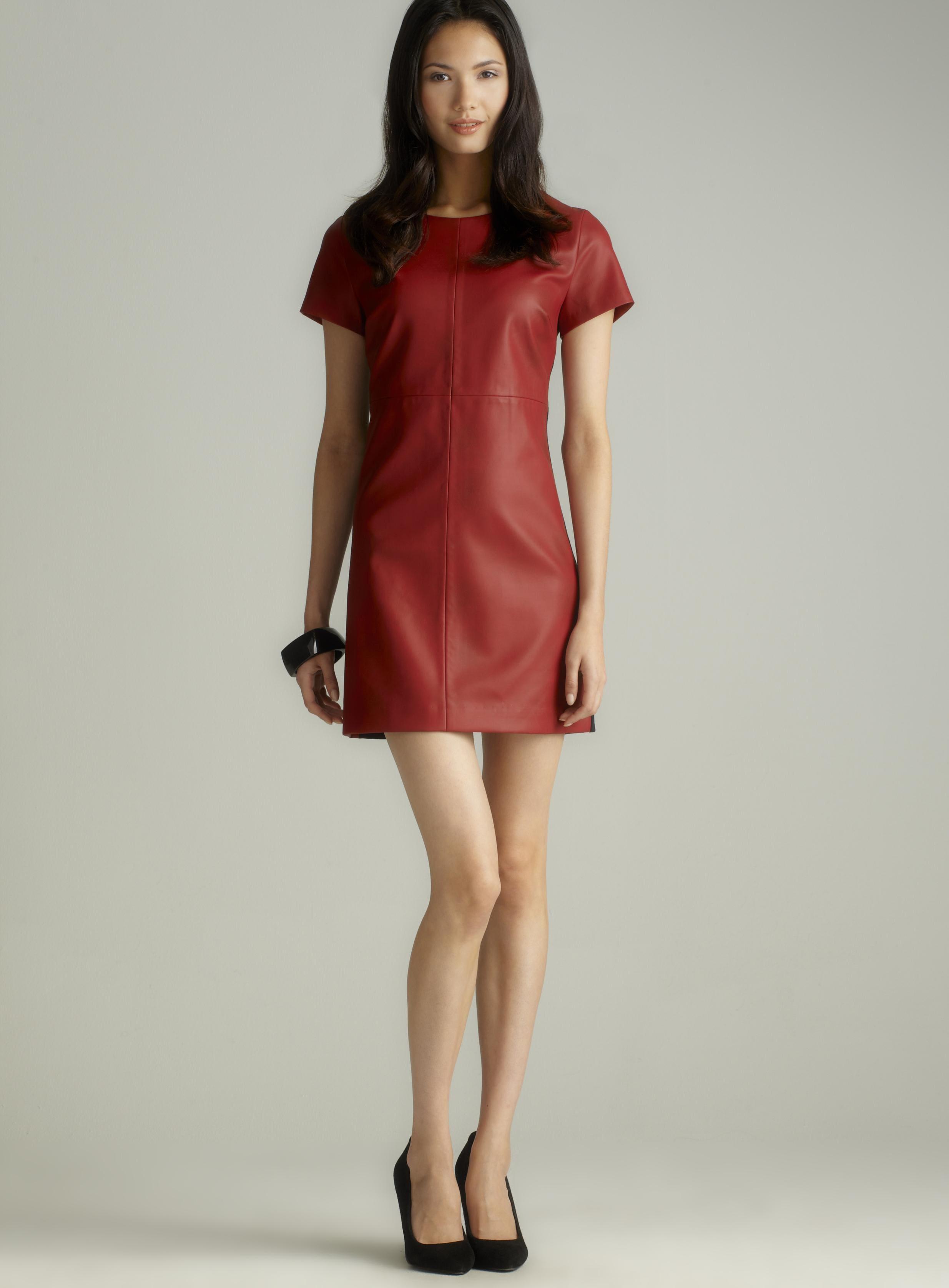 Jaye.e. Faux Leather Dress