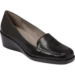 Women's Aerosoles Final Exam Black Lizard Print Leather