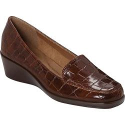 Women's Aerosoles Final Exam Mid Brown Croco
