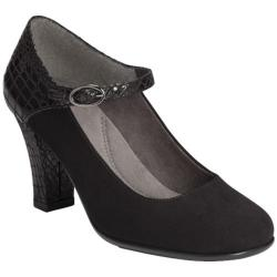 Women's Aerosoles Role With It Black Croco