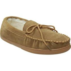 Men's Boston Traveler Faux Suede Mocassin Slippers Hickory