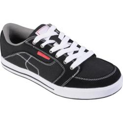 Men's Boston Traveler Topstitched Lace-up Sneakers Black