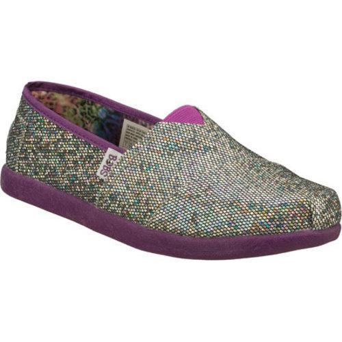 Girls Skechers BOBS World Silver/Purple