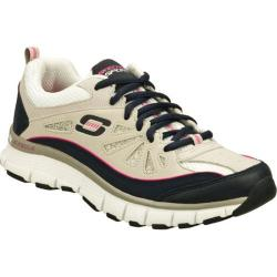 Women's Skechers Flex Fit Glamour Glitz Gray/Navy