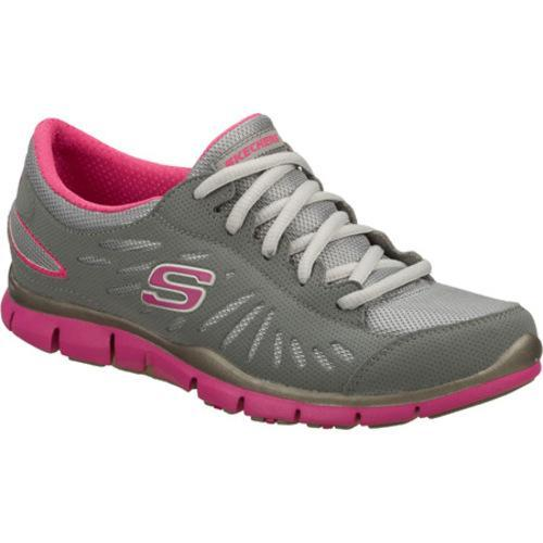 Women's Skechers Gratis Messengers Gray/Pink