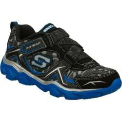 Boys' Skechers Serrated Black/Blue