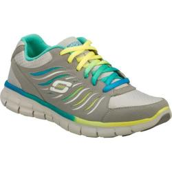Women's Skechers Synergy Light Show Gray/Blue