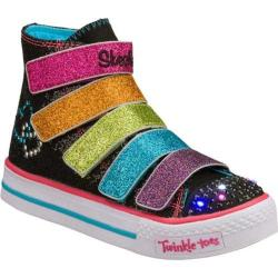Girls' Skechers Twinkle Toes Shuffles 5 Alive Black/Multi
