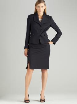 Tahari Pinstripe Skirt Suit
