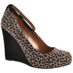 Women's BCBGeneration Damilo Black/Grey Leopard Suede