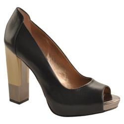 Women's BCBGeneration Theo Black/Gunmetal Vachetta/Mirror Metallic