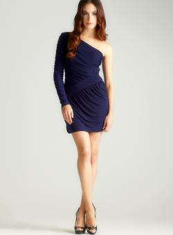 Laundry Asymmetrical One Sleeve Dress